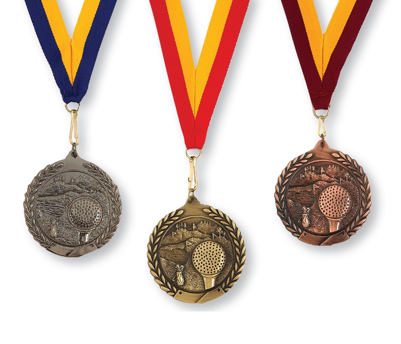 Die Cast Golf Medal - 3 Colors