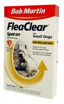 Bob Martin Flea Clear Small Dog Spot On 3 Tube