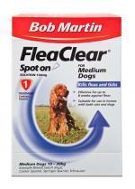 Bob Martin Flea Clear Medium Dog Spot On 1 Tube