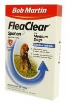 Bob Martin Flea Clear Medium Dog Spot On 3 Tube
