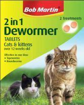 Bob Martin Dewormer Cat & Kitten 2in1 2tablets