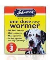 Dog Easy Dose Wormer - Size 3 Large Breeds 4 Tablets