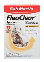 Bob Martin Flea Clear Small Dog Spot On 1 Tube