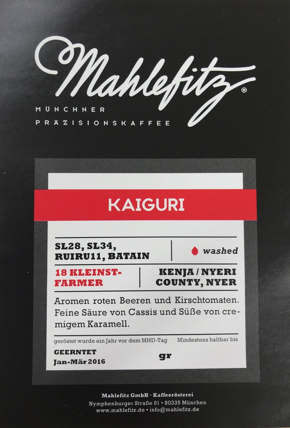 Kaiguri - Kenya/Nyeri - Filter Coffee