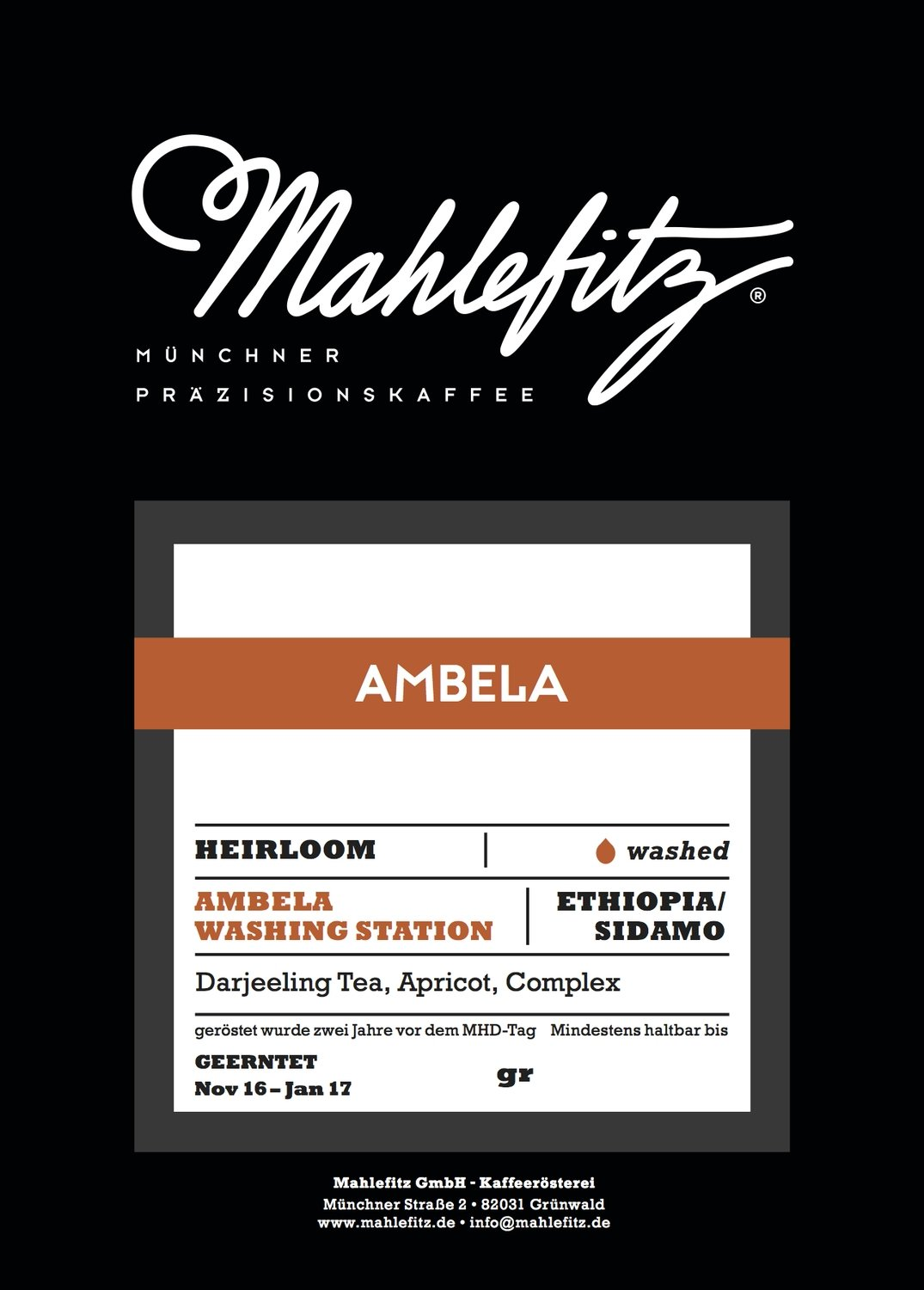 Ambela - Ethiopia, Washed - Filter Coffee