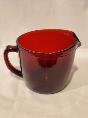 Anchor Hocking Royal Ruby Red Creamer, Plain Pattern