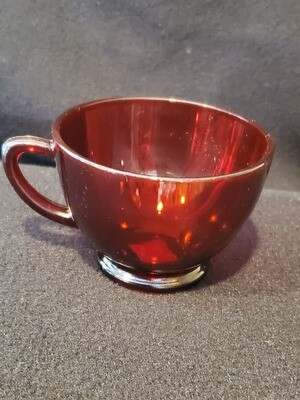 Anchor Hocking Royal Ruby Red, Punch Bowl Cup, Footed, Plain Pattern