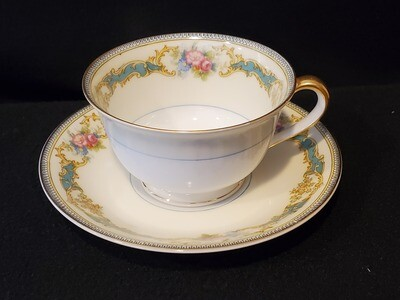 Noritake Cup & Saucer, Footed, Porcelain, Althea pattern