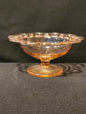 Anchor Hocking, Round Compote Footed, Pink Open Lace (Old Colony) Pattern