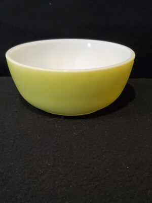 Hazel Atlas Cereal or Soup Bowl, Fired On Lime Green, 4 7/8