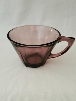 Moroccan Amethyst by Hazel-Atlas, Cup, Octagonal foot 2 3/8