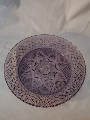 Antique Amethyst Luncheon Plate, 8