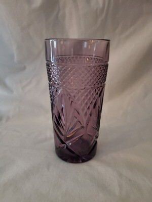 Antique Amethyst Cooler / Tumbler Glass, 8 1/4