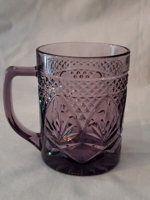 Antique Amethyst Mug, 3 7/8
