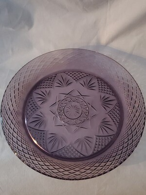 Antique Amethyst Dinner Plate 10 1/4