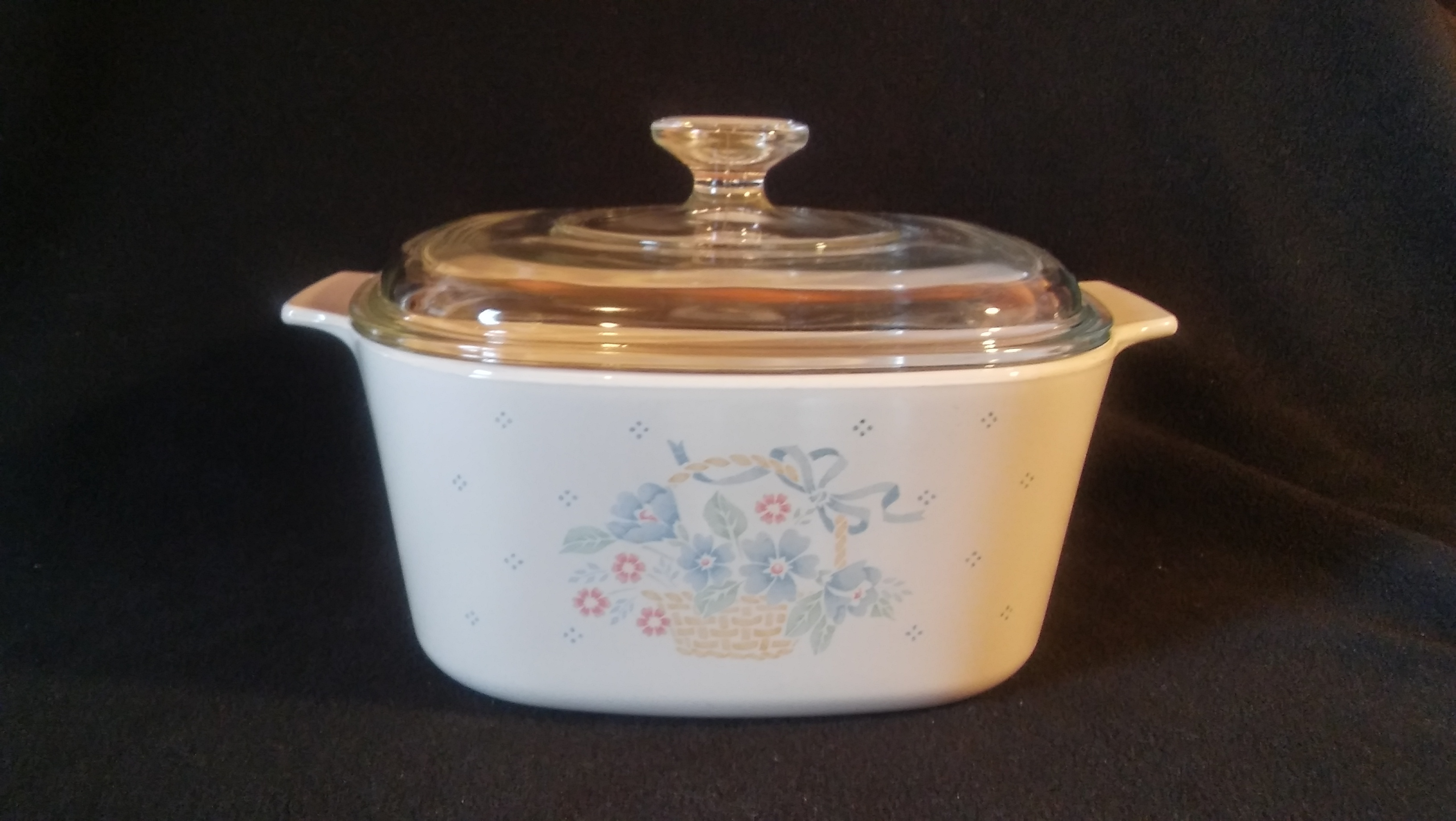 Corning Ware Casserole 3 Qt With Cover Country Cornflower Pattern