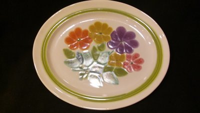 Franciscan Earthenware, Floral Pattern, Oval Serving Platter 13.5