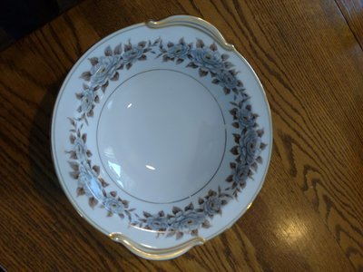 Noritake China Round Serving Bowl, Pattern 5318, Glenbrook