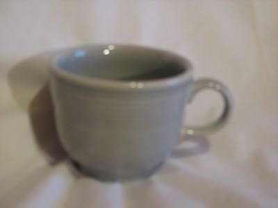 Vintage Fiestaware Coffee Cup, Light Grey