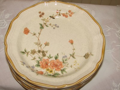 Mikasa Salad Plates, Silk Bouquet, EC 463 8