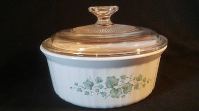Corning Ware, Casserole 1.5 qt, With Cover, Callaway Pattern, F-5-B