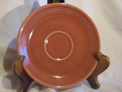 Fiestaware by Homer Laughlin, Saucer, Rose