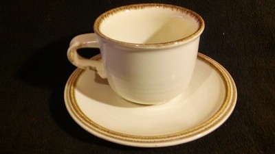Mikasa Nature's Gallery, Flat Coffee Cup & Saucer, Pattern # D8000