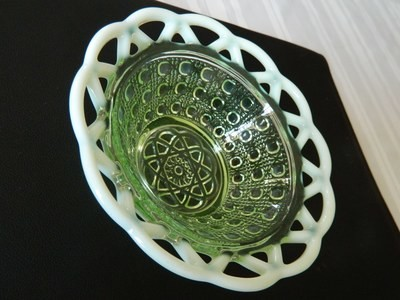 Imperial Glass Open Lace Bowl