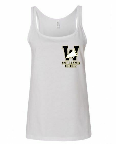 Bella Relaxed Jersey Tank w/screened logo