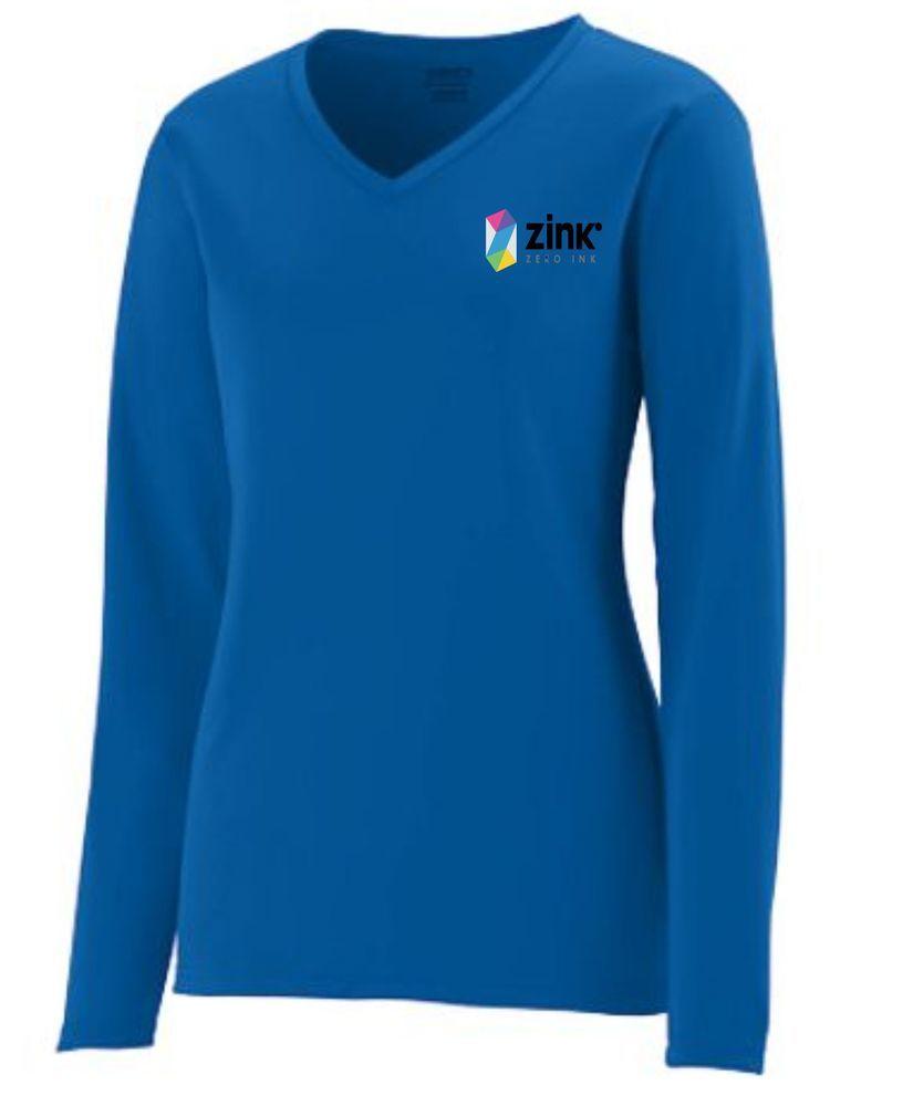 Augusta 1788 Ladies V-Neck L/S 100% Polyester Shirt
