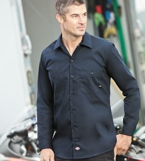 Dickies L/Sleeve work shirt w/embroidery (LL535)