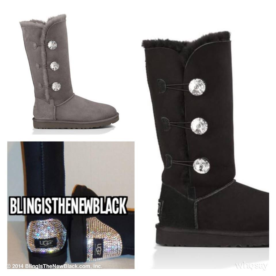 ugg bailey bling triplet grey
