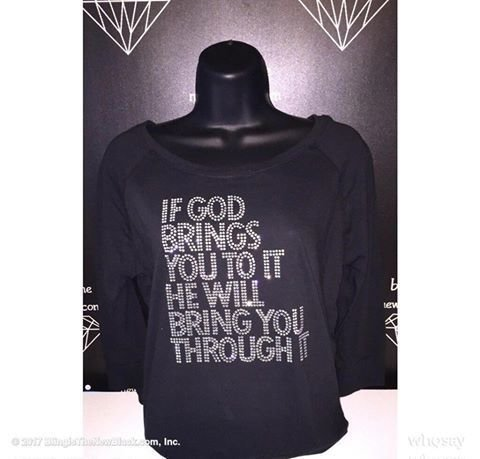 IF GOD BRINGS YOU TO IT HE WILL BRING YOU THROUGH IT FRENCH TERRY SLOUCHY -  NEXT LEVEL APPAREL 6931 S-XXL