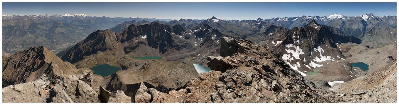 vista dall' Emilius: Cervino, MonteRosa, Tersiva, Gran Paradiso, Grivola