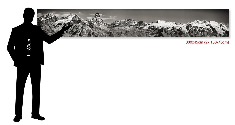 Cervino e Monte Rosa - Matterhorn-  300x45cm - trofeo Mezzalama