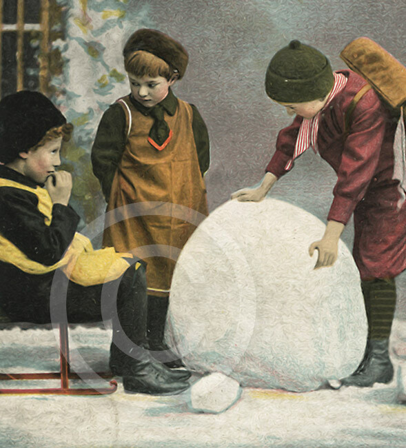 Palla di neve d'epoca