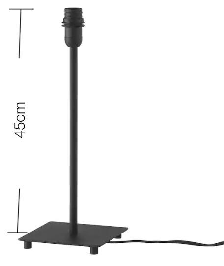 Base per lampada da tavolo, nero / h 45cm / E27