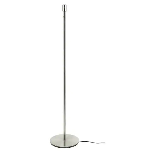 Base per lampada da terra, nichelato / h 130cm / E27