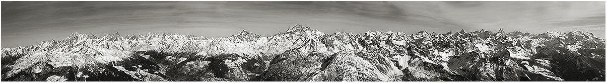 Monte Bianco, Grand Combin, Cervino e Monte Rosa