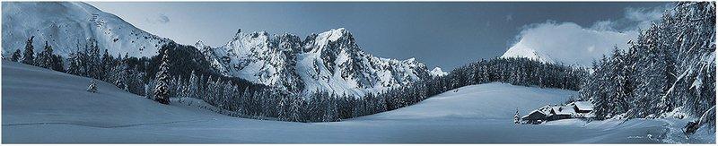 Quiete Blu - Dente del Gigante e Grandes Jorasses, Monte Bianco