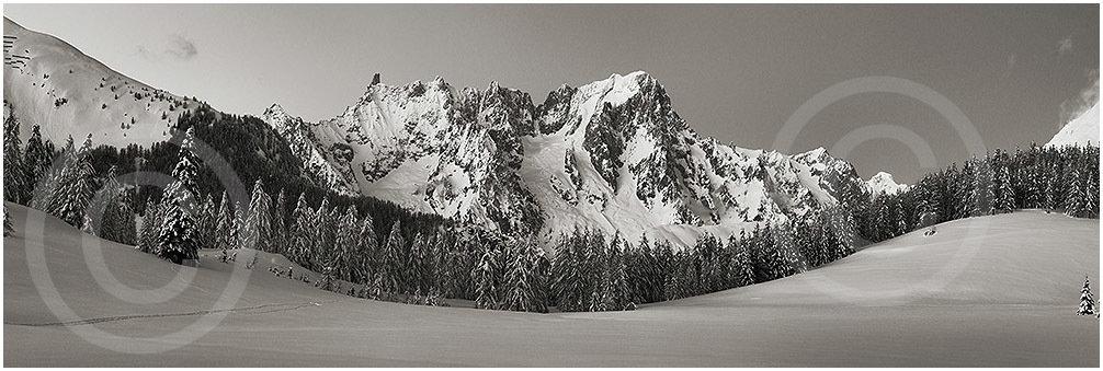 Dente del Gigante e Grandes Jorasses, Monte Bianco - Petosan
