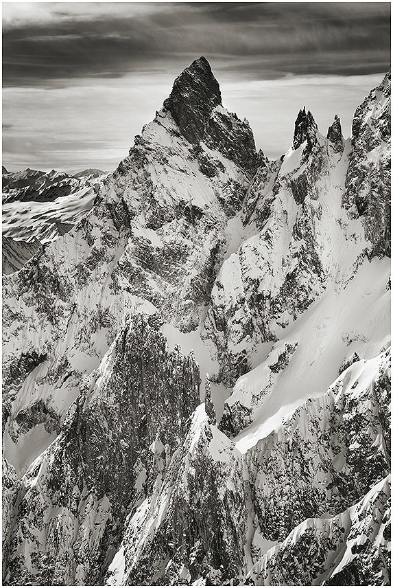 Aiguille Noire Peuterey e Les Dames Anglaises - Courmayeur - Monte Bianco - special metal edition
