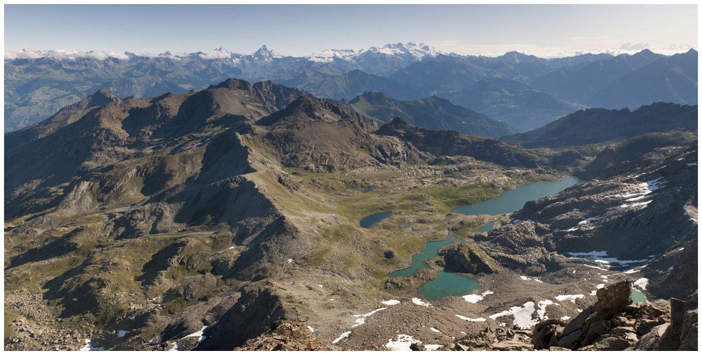 Parco Mont Avic dalla vetta Mont Glacier 3.185m