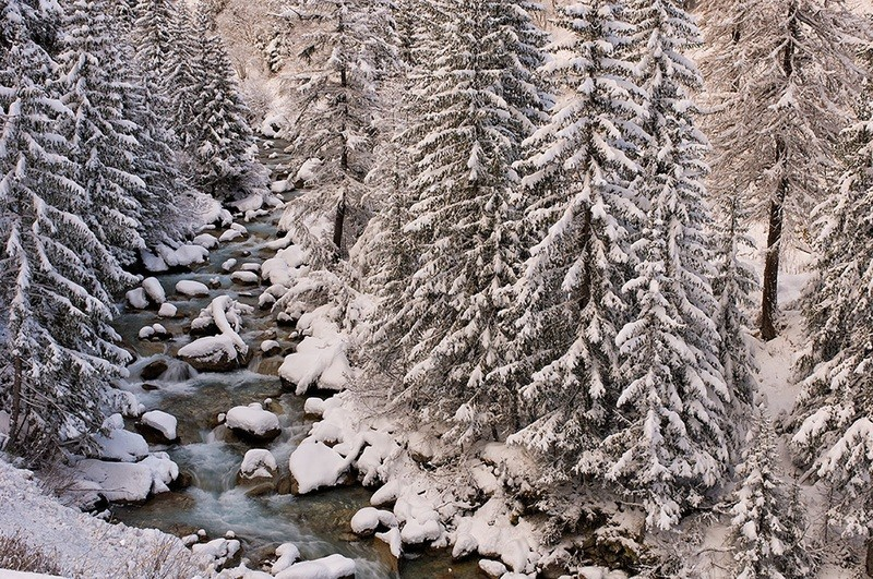 Torrente Ferret - Courmayeur - neve