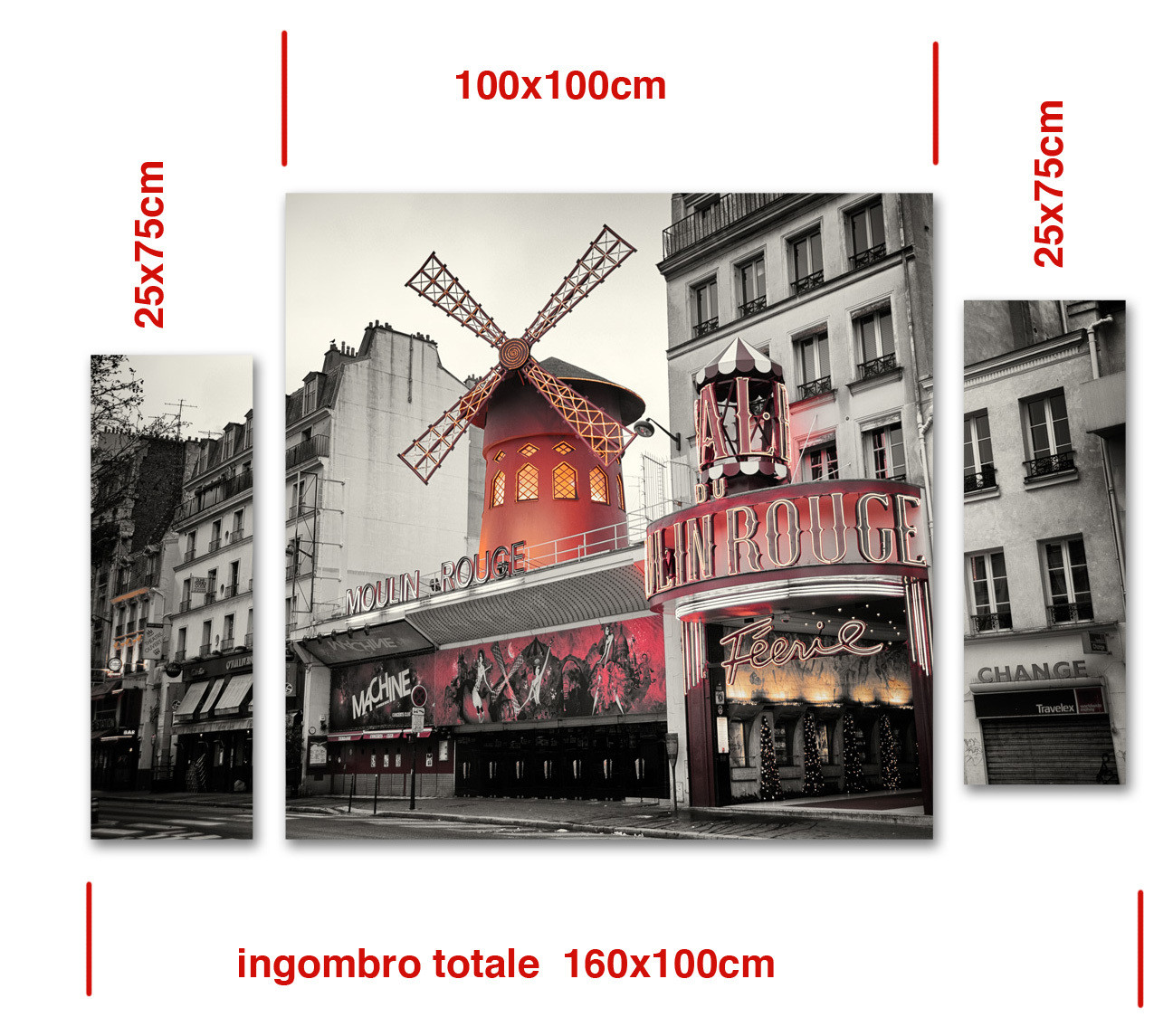 Moulin Rouge - trittico