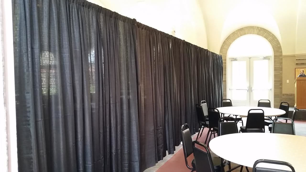 8' High Pipe and Drape by linear foot