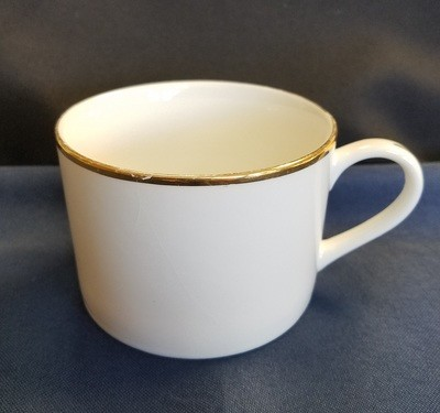 Gold Line White Coffee Cup
