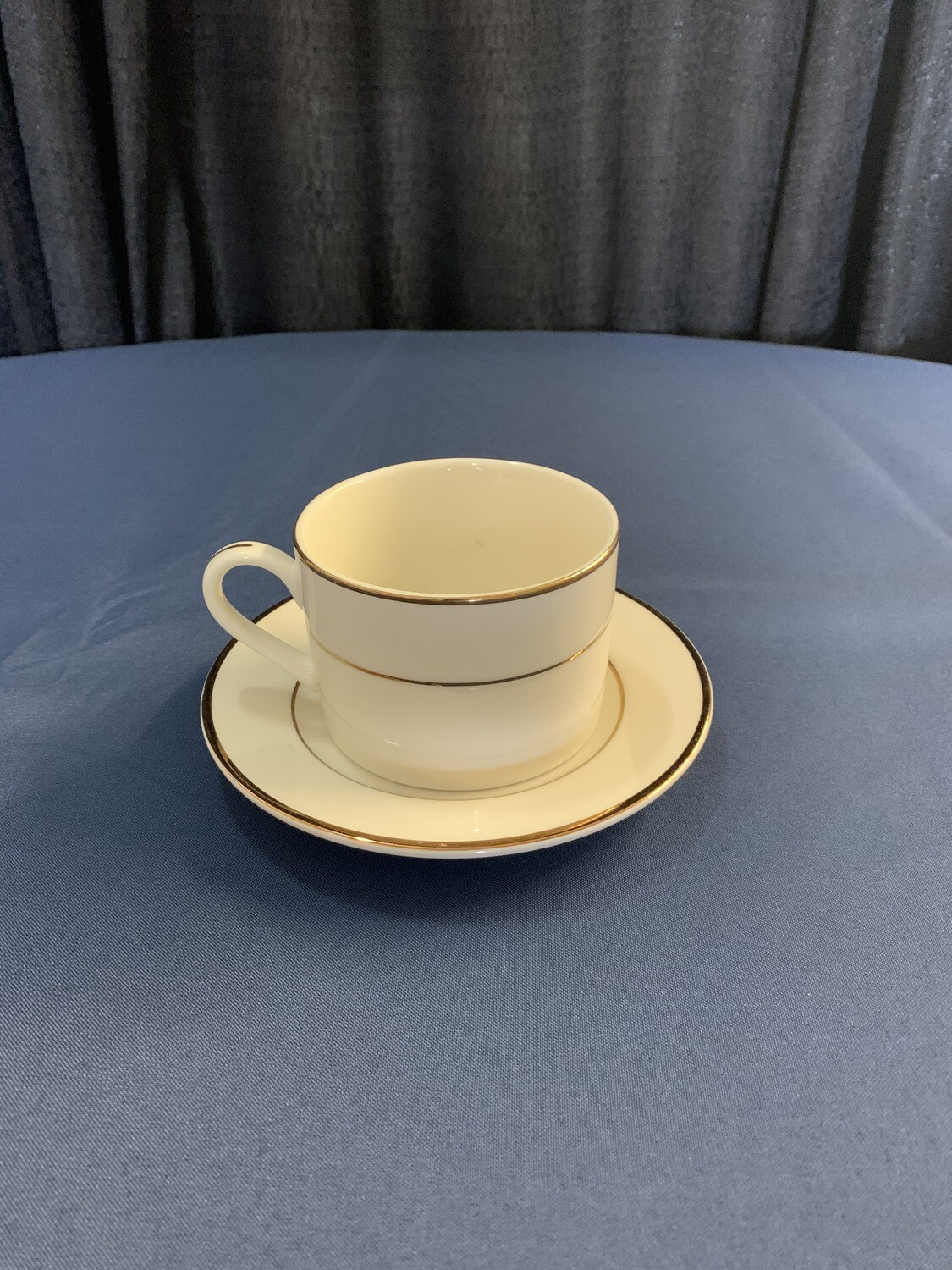 Cream Double Gold Coffee Cup (saucer additional charge)