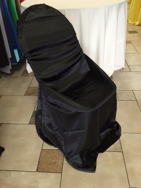 Black Chair Cover Satin