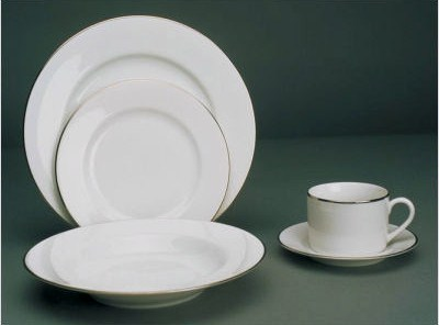 Silver Line White Luncheon Plate 9 26